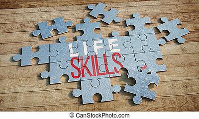 raadsel, leven, vaardigheden