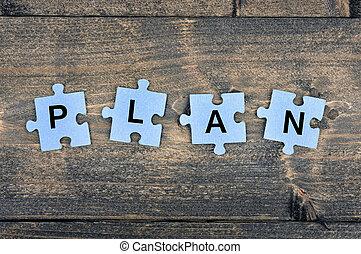 raadsel, woord, plan