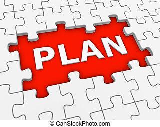 raadsel, word., -, plan, witte , 3d