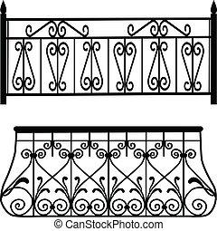 rails, balkon