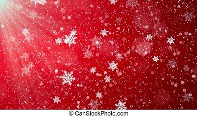 rechts, winter, achtergrond., achtergrond, rood, het vallen, kerstmis, lus, links