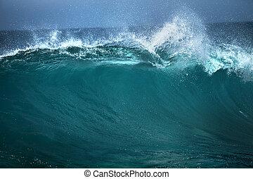 reclame, goed, achtergrond, golf, witte , blauwe , gebruiken, tekst, oceaan