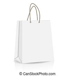 reclame, vector, zak, het brandmerken, shoppen , lege, illustratie