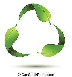 recycleren symbool, blad