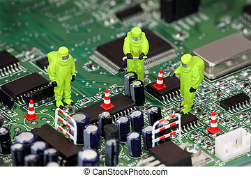 recycling, elektronica, concept