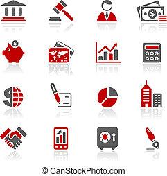 redico, financiën, zakelijk, &, iconen, /