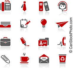 redico, kantoor, zakelijk, &, iconen, /