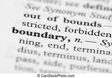 reeks, grens, -, woordenboek