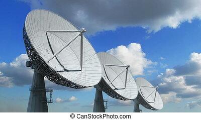 reeks, satelliet afwas