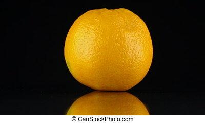 reflectie, ronddraaien, achtergrond., black , sinaasappel, zijn