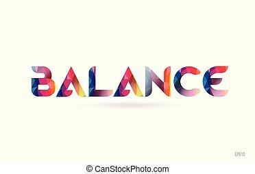 regenboog, evenwicht, woord, gekleurde, tekst, ontwerp, logo, suitable