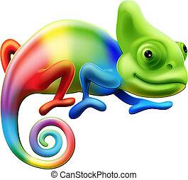 regenboog, kameleon