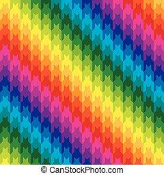 regenboog kleurt, jachthond tand, classieke
