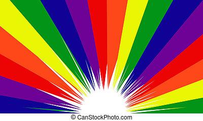 regenboog kleurt, trots, vrolijk, achtergrond