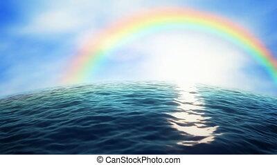 regenboog, oceaan