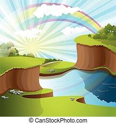 regenboog, rivier