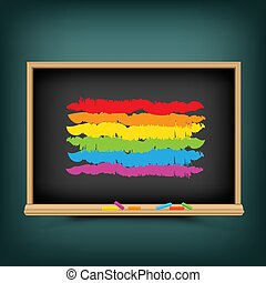 regenboog, school, vlag, achtergrond, lgbt