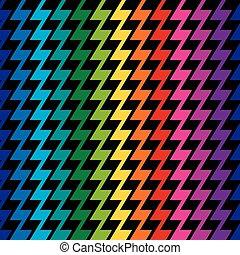 regenboog, zigzag