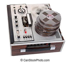 registreerapparaat, audio, cassette, retro