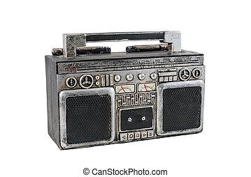 registreerapparaat, cassette, retro