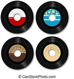 registreren, 45 rpm, retro