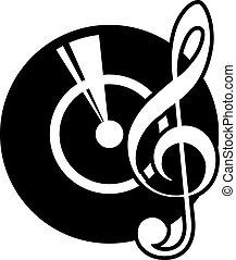 registreren, sleutel, vinyl, muzikalisch
