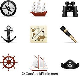 reis, set, zee, pictogram