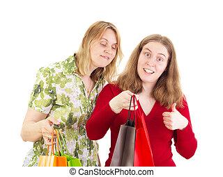 reis, shoppen , twee vrouwen