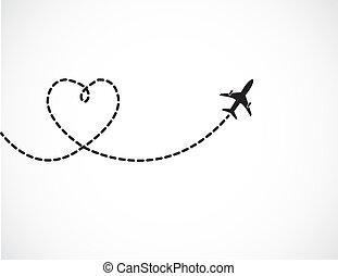 reizen, liefde, concept