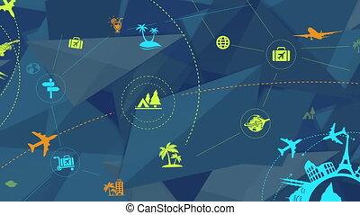 reizen toerisme, abstract, achtergrond