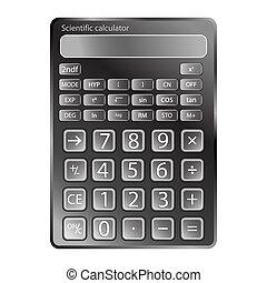 rekenmachine, witte , tegen