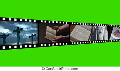 religieus, beeldmateriaal, montage