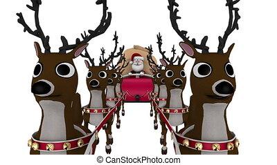 rendier, claus, kerstman