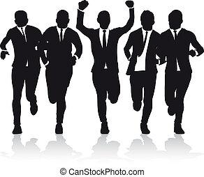 rennende , mannen, zakelijk