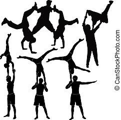 repesentatie, acrobats, gymnasts