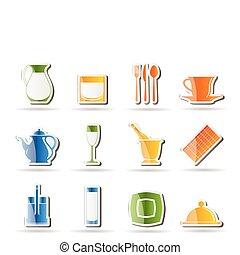 restaurant, klaveren, koffiehuis, bar, nacht