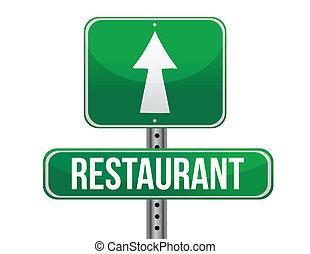 restaurant, wegaanduiding