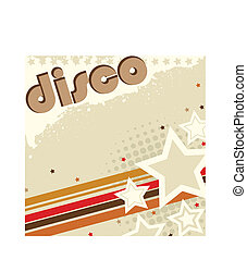 retro, achtergrond, disco