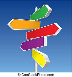 richting, (vector), tekens & borden