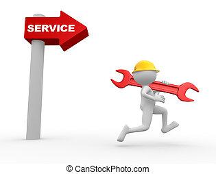richtingwijzer, service., woord