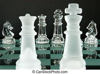 ridders, koning, koningin, schaakspel