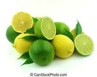 rijp, kalk, citroenen