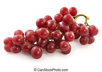 rijp, sappig, groot, druiven, besjes, rood