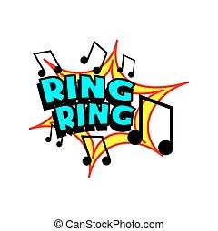 ring, toon, spotprent