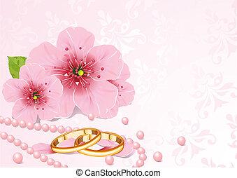 ringen, blossom , kers, trouwfeest
