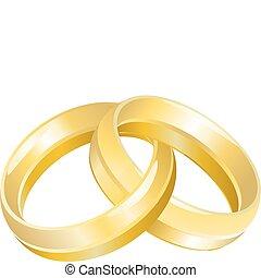 ringen, of, bef, trouwfeest
