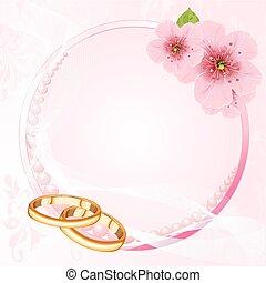 ringen, trouwfeest, blossom , kers, de