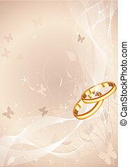ringen, trouwfeest, ontwerp