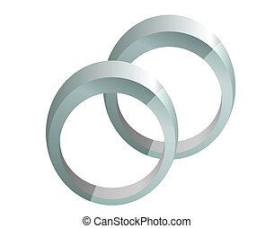 ringen, zilver