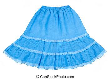 rok, vuurpijl, katoen, blauwe